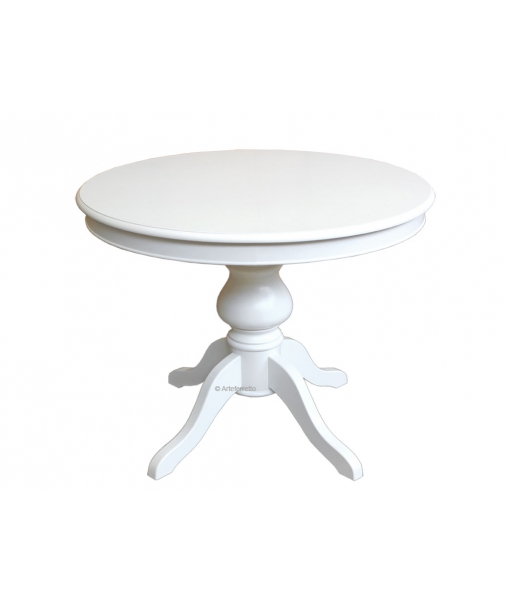 Extendable round dining table. Product code: 446-BI