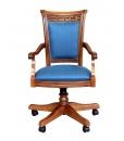 upholstered swivel office chair, swivel armchair, upholstered office armchair, wooden swivel armchair,