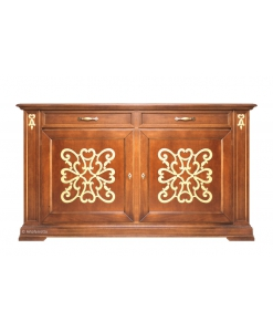 decorated classic sideboard, classic sideboard, wooden sideboard, living room sideboard, dining room sideboard, classic furniture, decorated furniture