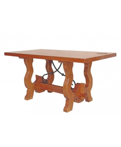 Country trestle dining table