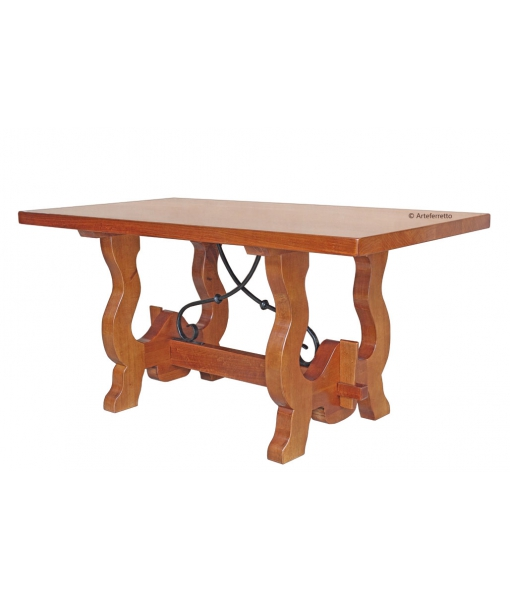 Country trestle dining table, SKU: FA-351