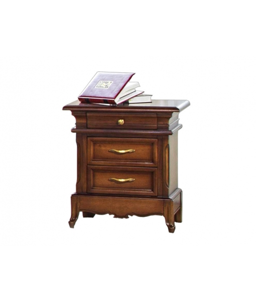 Carved nightstand 3 drawers for classical style bedroom. Sku G31-FS