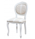 upholstered classic chair, dining room chair, wooden chair, white chair, white upholstered chair, classic style furniture, living room chair