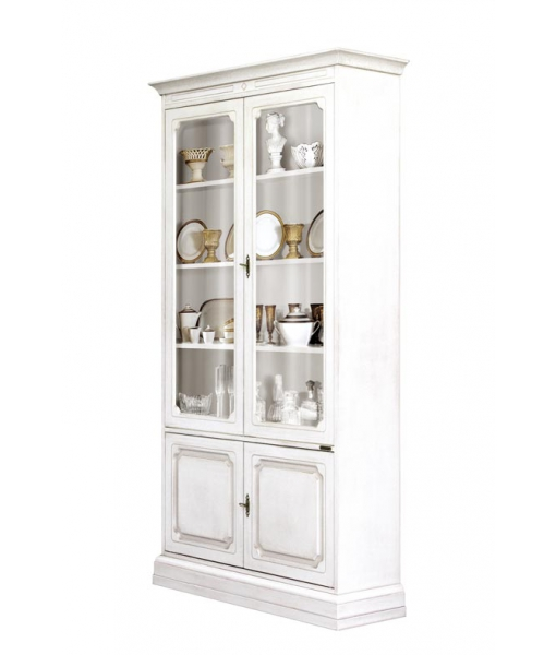 wooden display cabinet, living room cabinet, bookcase, wooden bookcase, white display cabinet, living room furniture, classic display cabinet,