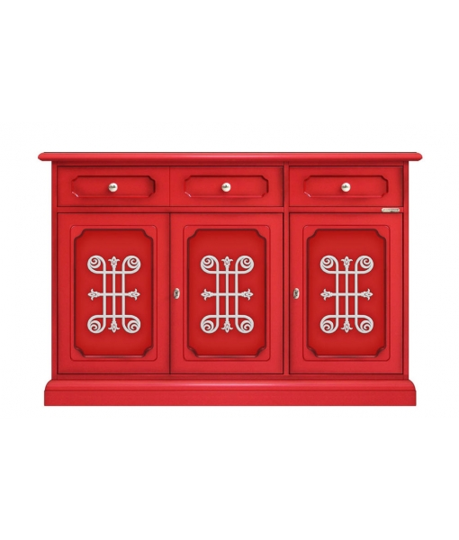 3 door red sideboard, SKU: 279-RED-YOU