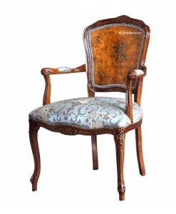 decorated parisian armchair, classic armchair, wooden armchair, carved armchair, upholstered chair, armchair , parisian armchair