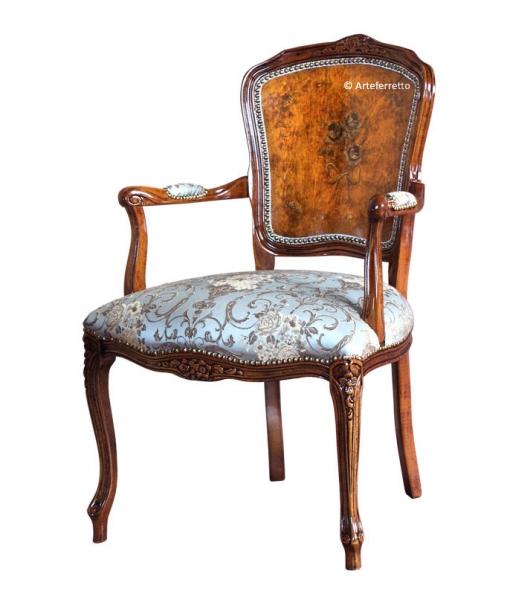 Decorated parisian armchair, classic armchair. Sku 330-MA