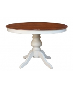 extendable two colour round table, extendable dining table, wooden round table, two coloured round table, kitchen table, extendable table, two coloured rounded table, round table, extendable round table, black table, white table, cherry wood table, walnut top table, dining room table, round table, living room table
