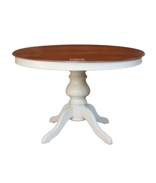 Extendable two colour round table. Sku 446-BIC