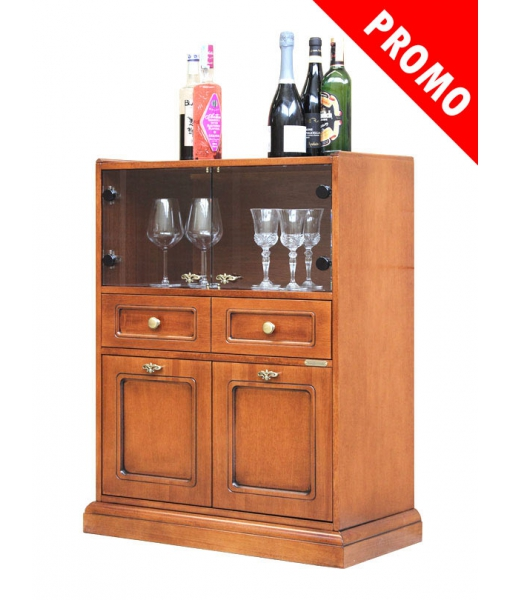 Wooden bar cabinet for home, SKU: A-2001-promo