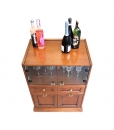 Wooden bar cabinet for home