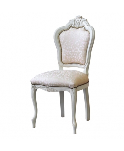 inlaid chair, classic chair, wooden chair, white chair, dining room chair, living room chair, dining room furniture,