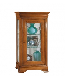 wood display cabinet, glass cabinet, display case, cherry wood cabinet, small cabinet, display cabinet in wood, showcase in wood, living room furniture, classic furniture,