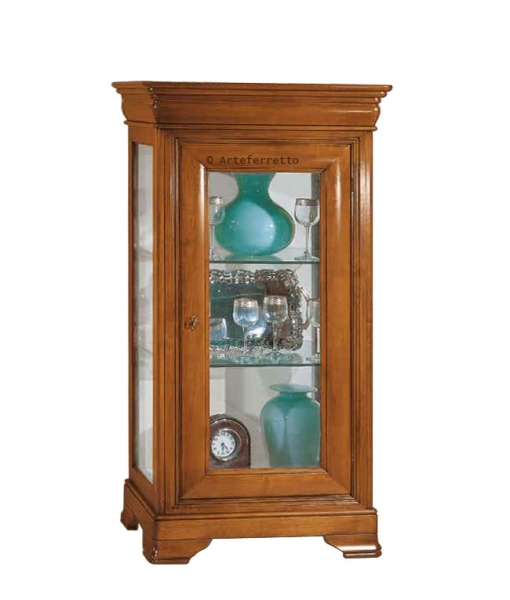 Wood display cabinet for living room. Sku P870