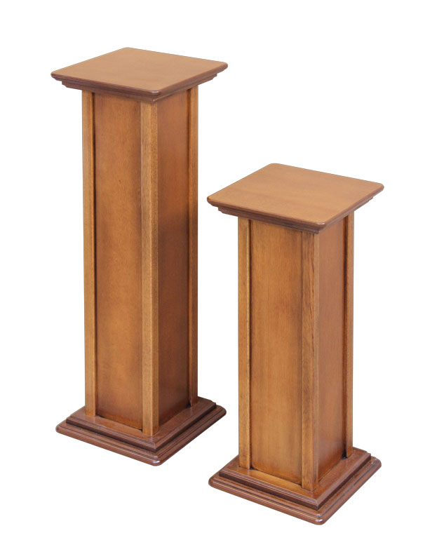 pedestals kitchen bases metal with base butcher wood wooden large table reclaimed pedestal block