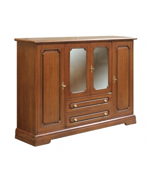 large sideboard, wooden sideboar, wood sideboard, classic sideboard, dining buffet, display cabinet