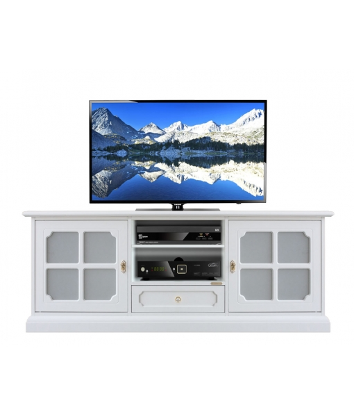 Wood tv stand for living room. Sku 3159-LUX