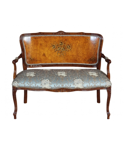 Decorated parisian sofa, living room 2 seater sofa. Sku 335-MA_styl
