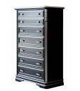 Stylish chest of drawers black and silver