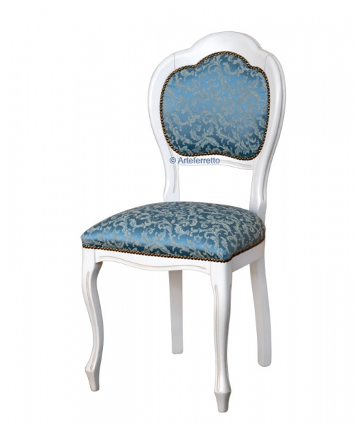 beech wood chair, white chair, lacquered chair, classic chair, upholstered chair, dining room chair in white color