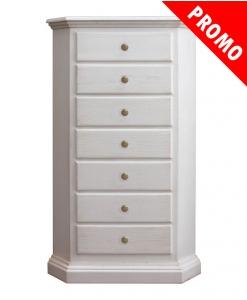 Arteferretto, corner chest of drawers, corner dresser, white corner cabinet, wood cornet unit, corner cabinet, wood furniture