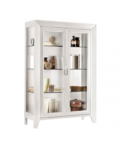 2 door white display cabinet, living room cabinet, showcase, solid wood display cabinet, bookcase, living room furniture
