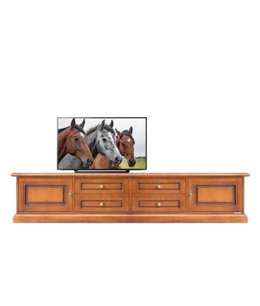 Functional tv cabinet in wood. Italian design. Sku: BA-01