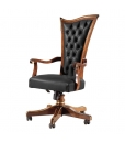 office swivel armchair, office furniture, swivel armchair, classic style armchair, leather armchair