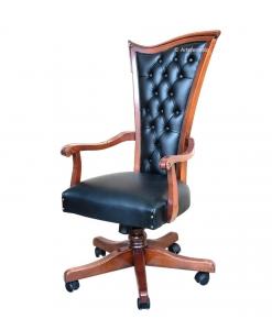 office swivel armchair, office furniture, swivel armchair, classic style armchair, leather armchair