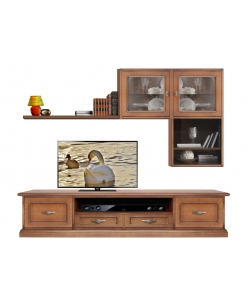 tv wall unit, wooden tv wall unit, classic furniture, living room unit, living room furniture,