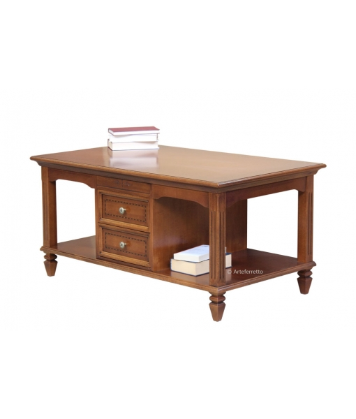 Rectangular coffee table for living room in classic style. Sku F1-2Q