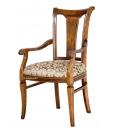 Wooden chair stylized backrest.