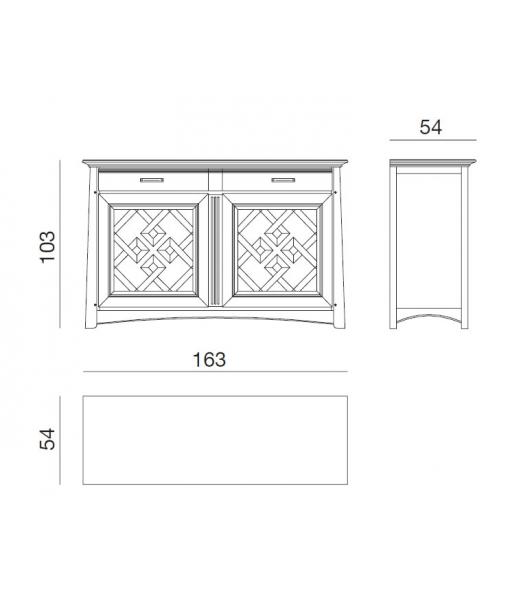 handmade black sideboard, sideboard, dining buffet, dining sideboard,