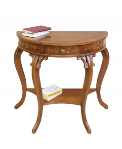 charming console table, side table, carved console table, wooden furniture, classic furniture, entryway furniture