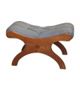 padded footrest stool, wooden stool, living room stool, footrest stool