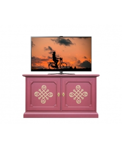 low ruby sideboard, living room sideboard, wooden sideboard, colored furniture, ruby collection,