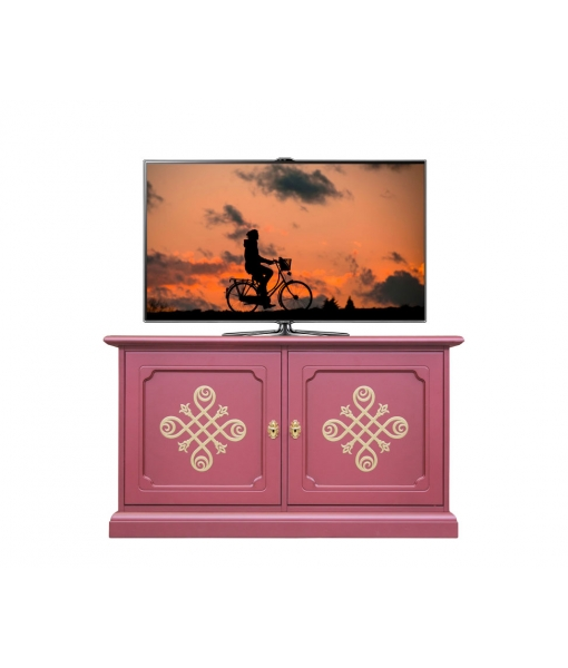 Low ruby sideboard in wood. Living room sideboard. Sku 06-RU