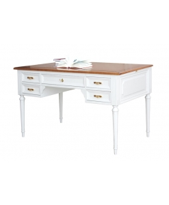 two tone desk, two tone writing desk, classic writing desk, Bureau Desk, wooden desk, office furniture,