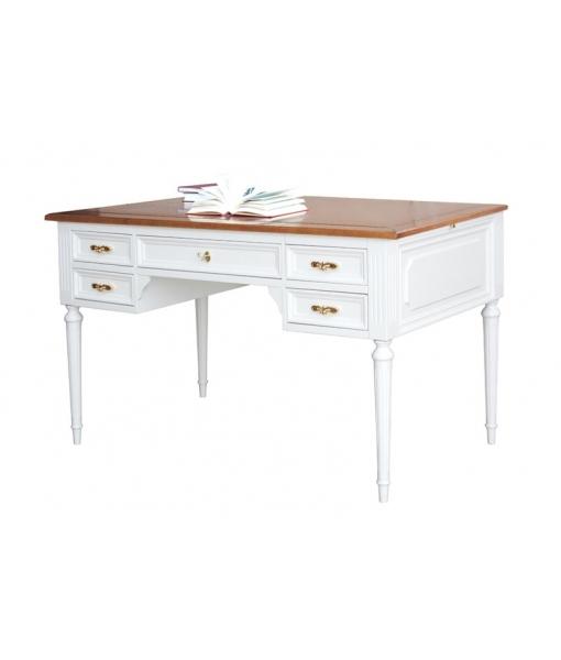 Two tone writing desk in wood. Sku 1381-BIC