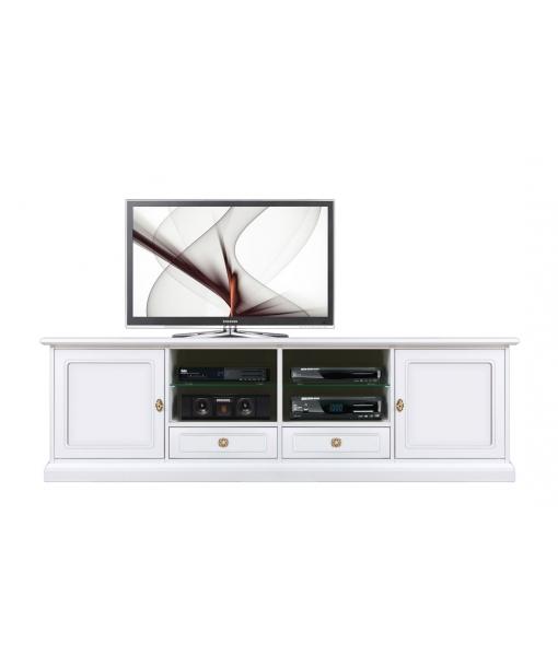 wooden tv unit, tv stand, white tv cabinet, 2 door 2 drawer tv cabinet, wooden furniture, living furniture,