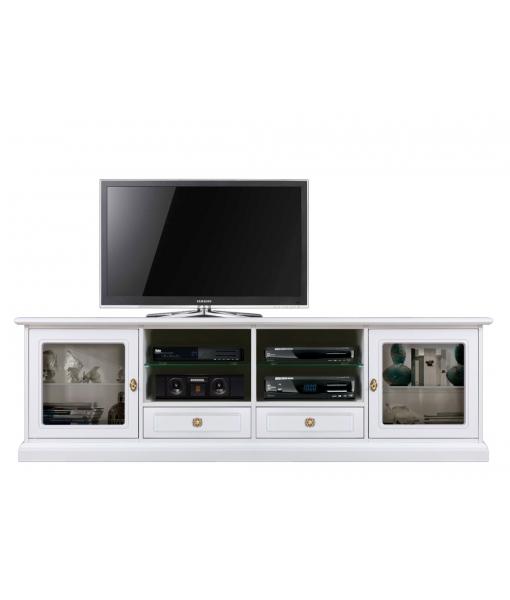 Glass door tv stand. Sku 4010-qv