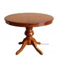 classic round table, extendable round table, extendable table, dining table, wooden dining table, classic table Louis Philippe table, kitchen round table