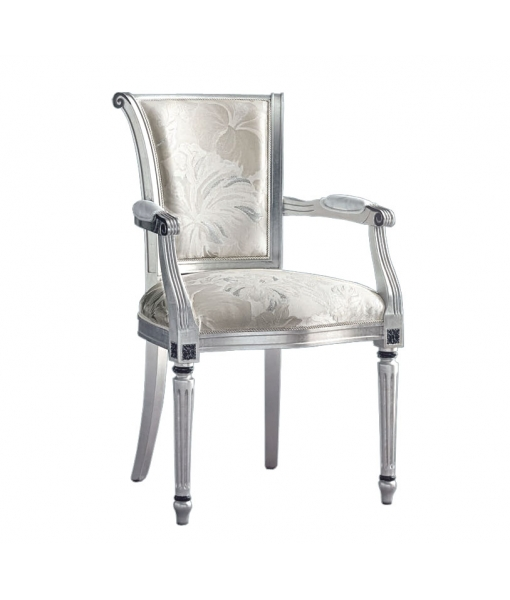 Turned leg chair with armrests. Sku C222