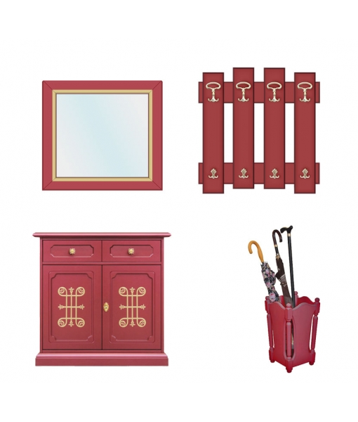 Ruby hallway furniture in wood. Sku C89-RU