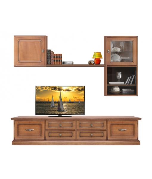 Wooden tv wall unit for living room. Sku CMB-103