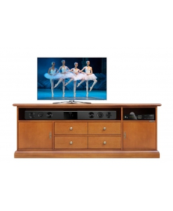 wooden tv unit, tv stand with soundbar opening, tv cabinet with drawers, wooden furniture, living room furniture, classic style cabinet, tv stand for living room,