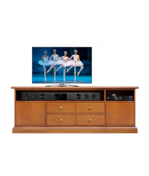 Wooden tv unit soundbar opening for living room. Sku SB-160-1