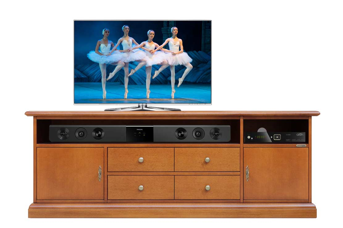 Living Room Tv Stand Cabinet In Wood Tv Unit Doors And Drawers