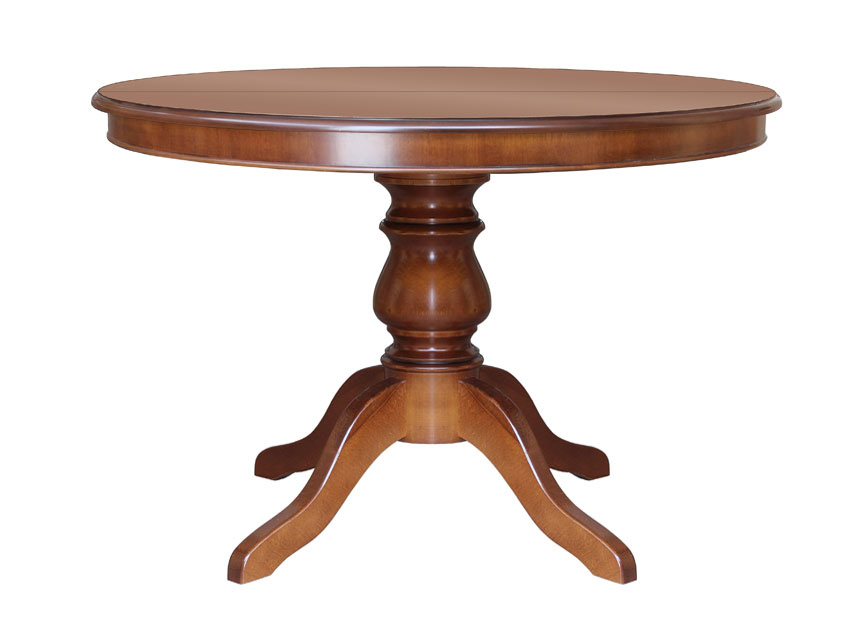 Classic Round Table 100 Cm Extendable Table Wooden