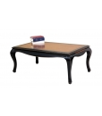 two colour coffee table, living room table, coffee table, wooden coffee table, rectangular black coffee table, black furniture, cherry wood coffee table, pullout shelves, low coffee table,